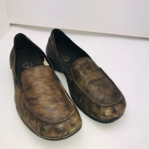 Merrell Dark Brown Marbled Parma Loafers